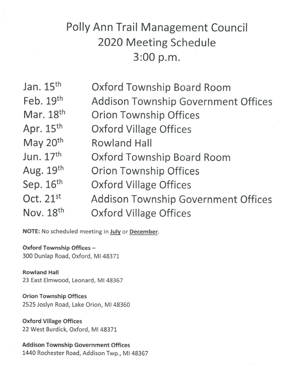 PollyAnn2020MeetingSchedule